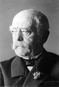 Otto von Bismarck o chanceler de ferro, foi o estadista mais importante da Alemanha do século XIX